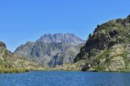 La Serra dell'Argentera vista dal lago inferiore di Valscura