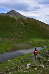 Scendendo verso il rif. Mont Fallere