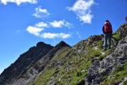 Risalendo la cresta Nord del Bec de Nana