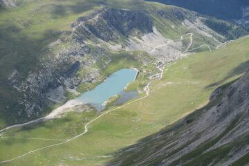 la diga di Le Saut da dove parte il sentiero