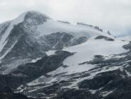 vista sul Gran Paradiso, con ghiacciaio ridotto in basso