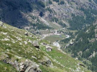 in discesa verso Pont, con Alp.  de Seivaz