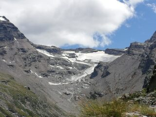 vista sul ghiacciaio del Grand Etret, ai minimi termini