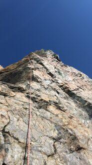Primo torrione verticale da scalare,ma ben manigliato