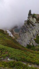 scorcio nebbioso sul lago Tempesta