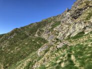 Lungo il traverso verso la cresta Sud (via normale)