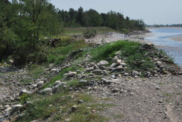 L'argine sul Sesia a Ghemme vittima dell'alluvione