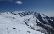 Il Monte Rosa visto dall'anticima della Gobba di Rollin.