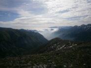 nuvole fotogeniche verso valle