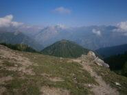 dal colle, il monte Cros (al centro)