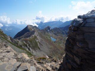 Dalla Punta Fortino panorama verso il Monte Bessanetto.