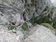 Passaggio critico visto da monte