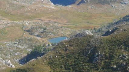 Il lago del Pizzo dall'anticima del Conoia