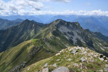 Testa di Menta, Tignolino e Passo di Basagrana visti dalla cima 2301