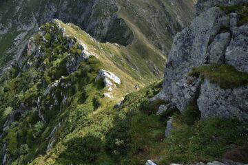Tratto di cresta percorso sul versante Nord