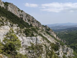 Visione di insieme dei settori di arrampicata