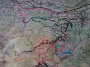 Mappa sentieri in zona