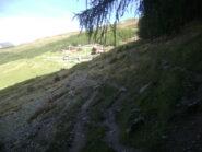 in vista degli impianti a valle Basse Tete