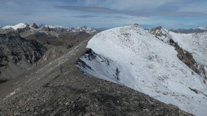 cresta verso quota 3047 e l'Argentiere