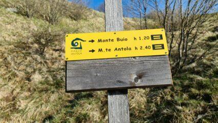 segnaletica e cartelli indicatori sempre presenti lungo tutto il percorso
