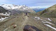risalendo il filo della morena della Val Rosolè