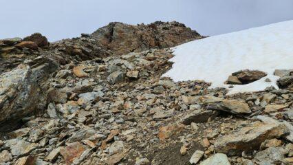 la parte finale di cresta prima della cima