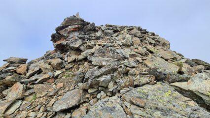 ultimi metri di facili roccette prima della cima