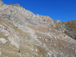 Il profilo della Cresta Dumontel.
