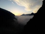 Nubi basse alla partenza