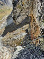 L4, vista dalla sosta sul diedro finale.
