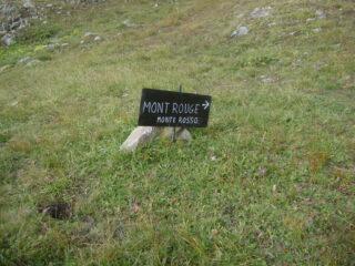 sentiero 13, quota circa m.2530, deviazione per il Monte Rosso