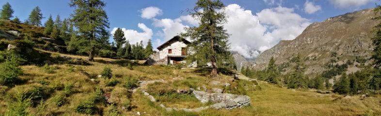 Alpe Scherpia di sopra dove termina sentiero