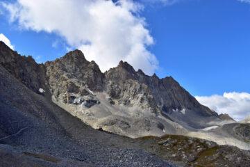 L'Aiguille de Chambeyron dai pressi del colle Marinet