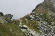 L'arrivo al Colle del Lupo, da dove si scende sul versante valdostano