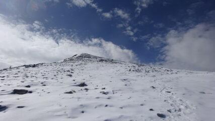 inizio della neve sulla cresta nord-est della Rossa della Grivola