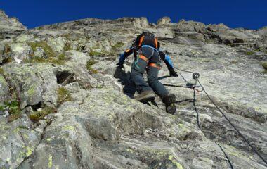 Primo tratto su roccia un po' liscia.