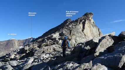Poco dopo essere usciti al Sonnigpass 3147mt. ,si continua sul lato Svizzero.