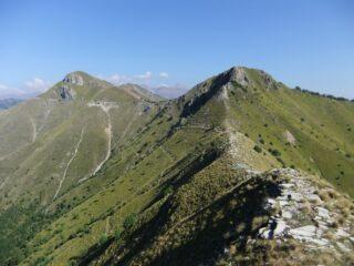 Crinale con Cime de Gonella e Pointe de Ventabren