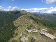 Dal Monte Le Ciazze , il crinale verso il Monte Grande