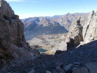 il versante Valle Stura con il lago di Roburent inferiore