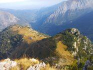 dalla cima ,veduta  sulla Valle Pesio