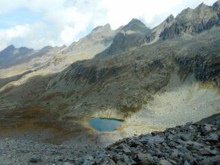 il lago Lestio salendo al passo Vallanta
