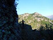 sentiero panoramico nella prima parte