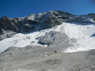 ciò che resta del ghiacciaio del Sommeiller