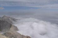 mare di nuvole verso la Valle di Susa