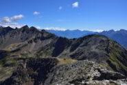 Veduta dalla vetta verso il Col de Viou e il mont Mary