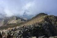 La cresta SO della Testa Gias dei Laghi dalla vetta