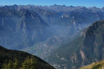 Dal Bec di Nona: Donnas, Bard, l'imbocco delle valli di Gressoney e Champorcher
