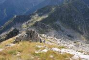 Dalla vetta del Gemello: Colle della Mologna Piccola, sentiero 6C e Lago Riazzale