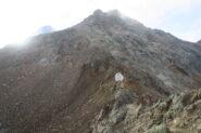 il bivacco e la prima parte del tracciato dal Col Carrel